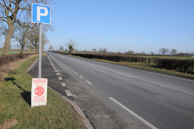 Layby on the A38