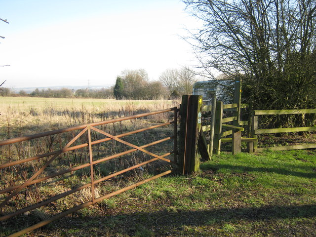 Right of way, Middleton Wood Farm