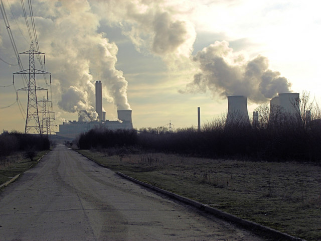Access road to Didcot Power Station