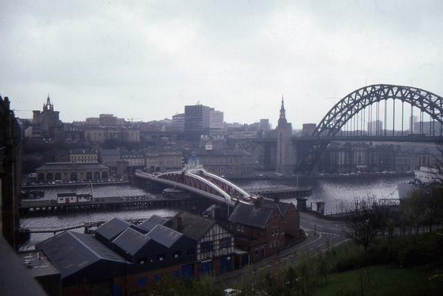 Tyne Bridges and Newcastle, from Gateshead
