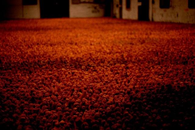 """""""Field"""": Antony Gormley installation, Gateshead, 1996"""