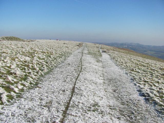 Snowy scene on Garth Hill