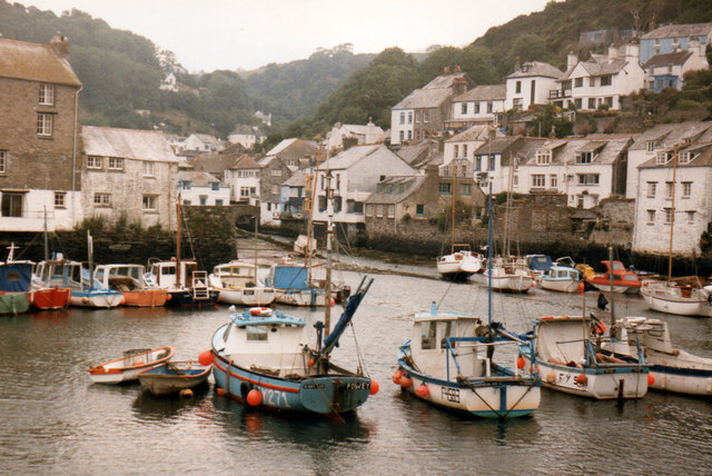 Polperro Harbour 1986