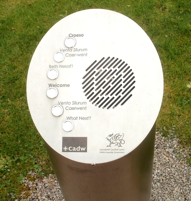 Aural information point, Caerwent Visitor Centre