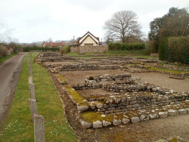Foundations of ancient Roman shops and houses, Pound Lane, Caerwent