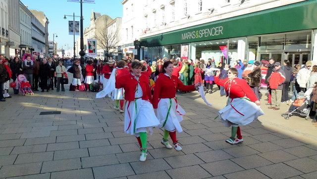 Morris dancing in Cheltenham 1