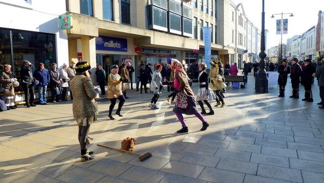 Morris dancing in Cheltenham 6