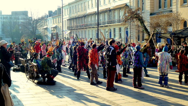 Morris dancing in Cheltenham 13