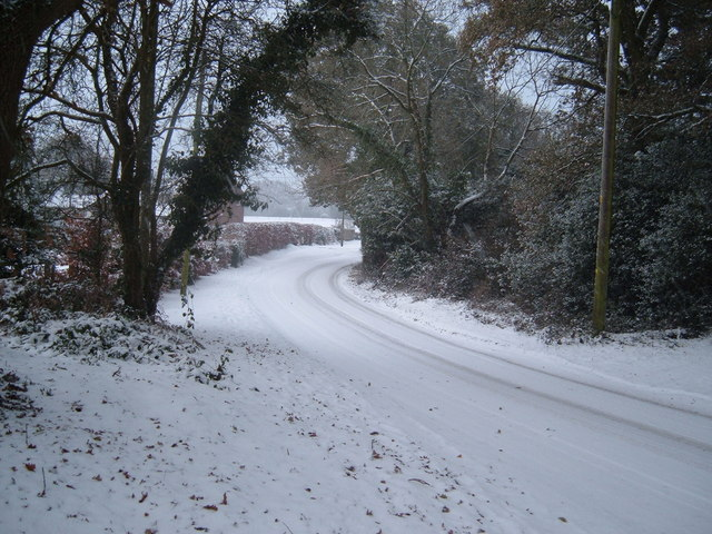 Hangersley Hill in Winter