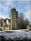 SE5952 : Ruins of the abbey church by Pauline E