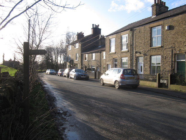 The Lord Clyde and cottages, Clarke Lane, Bollington