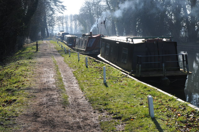 Narrowboats on the Stroudwater Canal