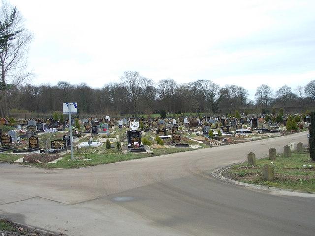 Scholemoor Cemetery - Moslem Burial Ground - viewed from Cemetery Road