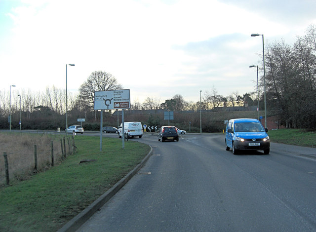A4130 junction with B4016