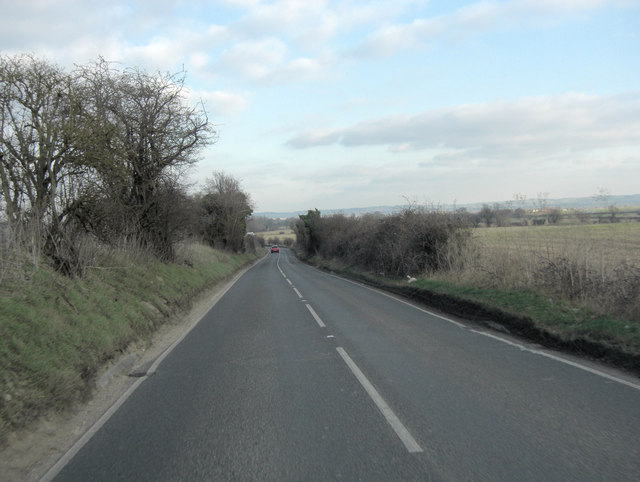 A4130 north of Park Farm