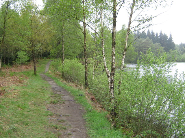 A path beside Bruntis Loch
