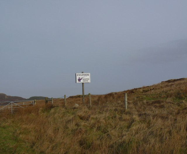 Sign for Cultoon Shooting Ground, Islay