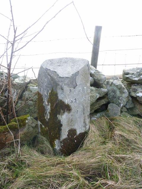 Milestone near Easter Ellister, Islay