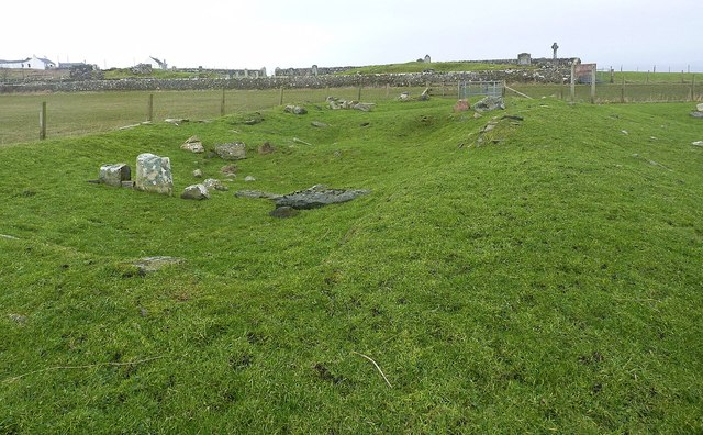 Remains of Chapel, Nerabus, Islay