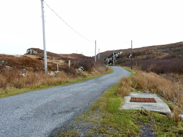 Road by Cnoc Farragain, Islay