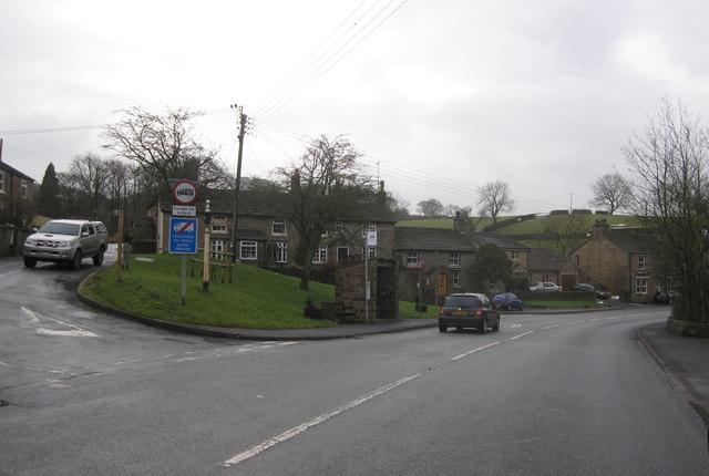 Rainow Road/Bullhill Lane junction, Rainow