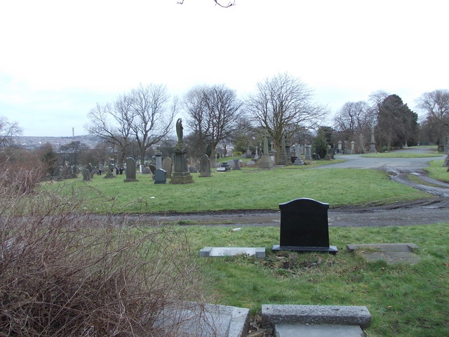 Scholemoor Cemetery - viewed from Brooksbank Avenue