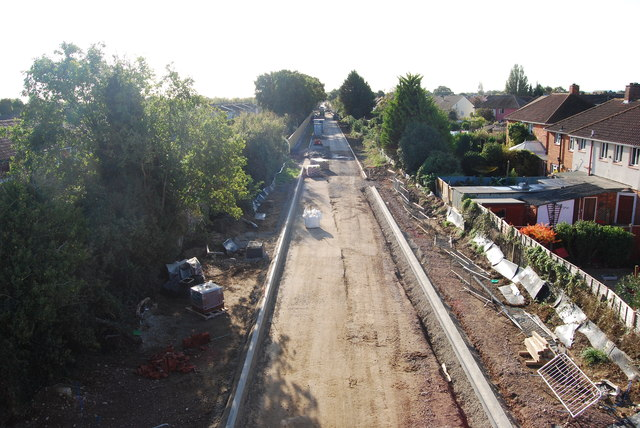 Fareham to Gosport BRT - View from Gregson Avenue Bridge (34)