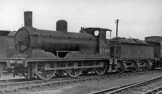 Ex-Caledonian 'Jumbo' 2F 0-6-0 at Polmadie Depot