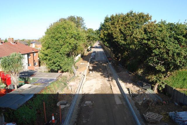 Fareham to Gosport BRT - View from Gregson Avenue Bridge (36)