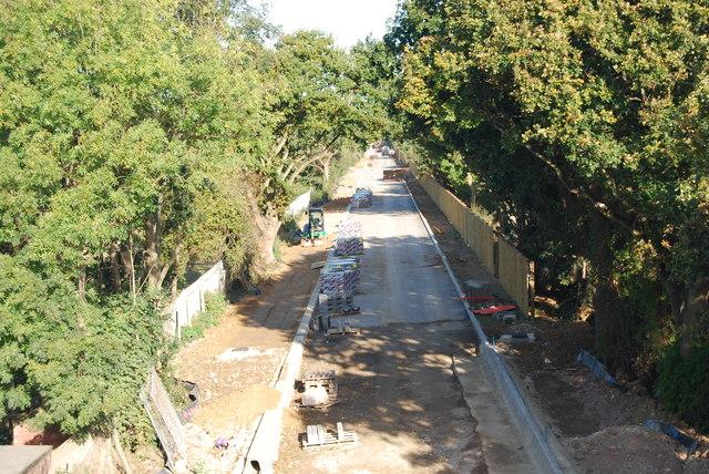 Fareham to Gosport BRT - View from Gregson Avenue Bridge (37)