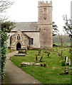 ST4690 : Tower of the Grade II* listed Parish Church of St Stephen & St Tathan, Caerwent by Jaggery