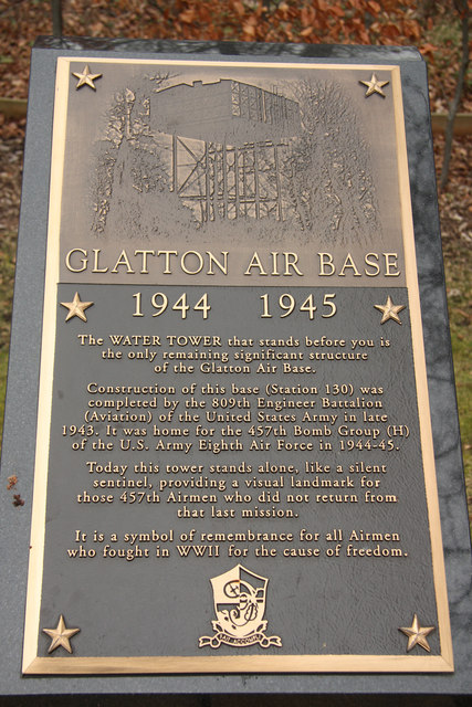 Glatton airbase plaque