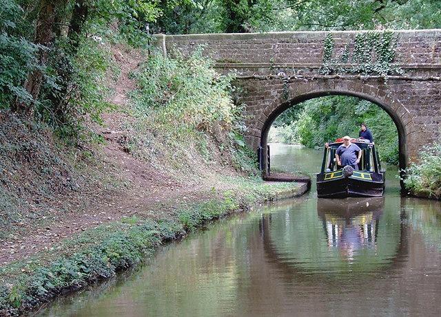 Shropshire Union canal at Knighton, Staffordshire