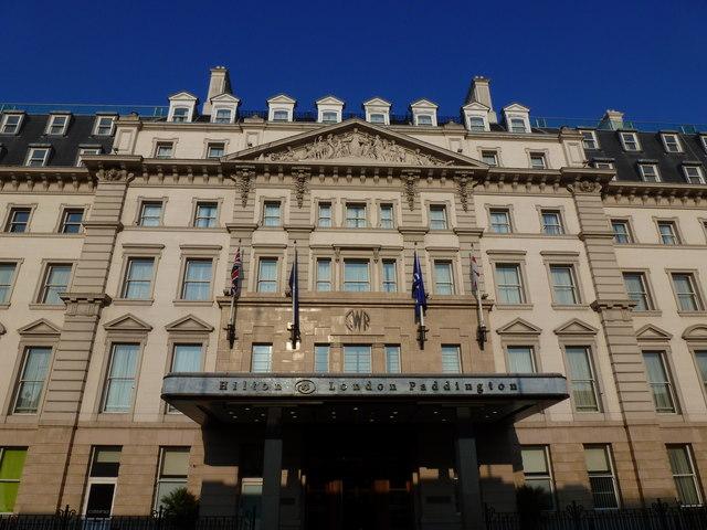 Entrance to the Hilton Hotel, Paddington Station