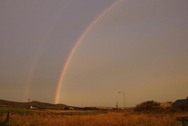 Rainbow over the Heogs, Baltasound