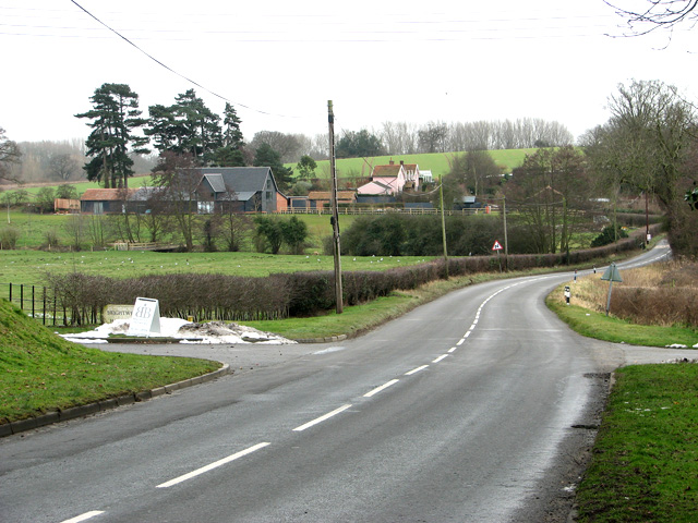View towards the village of Brightwell