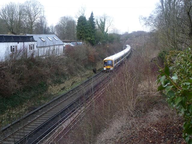 Railway west of Wheatsheaf Hill bridge