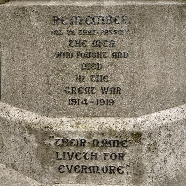 St Ambrose War Memorial Inscription