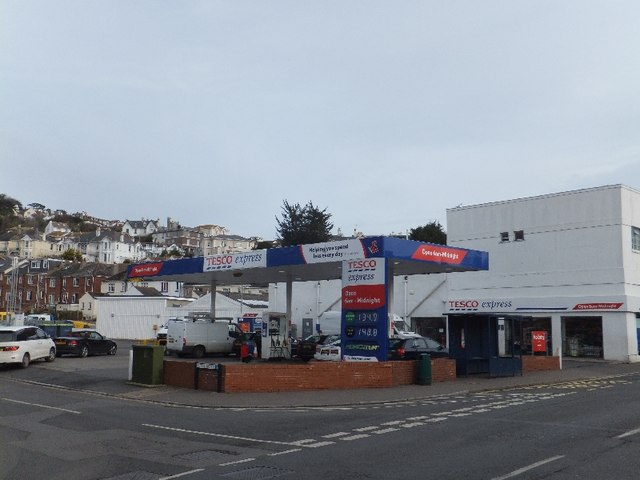 Mini supermarket and filling station in Teignmouth