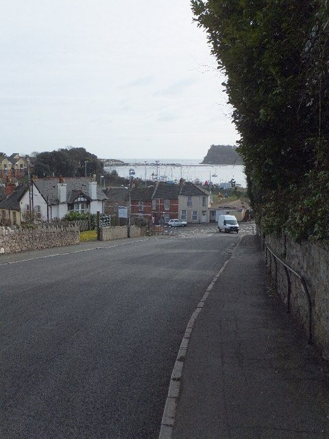 The foot of the hill of Mill Lane