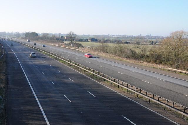 The M5 near Moreton Valence
