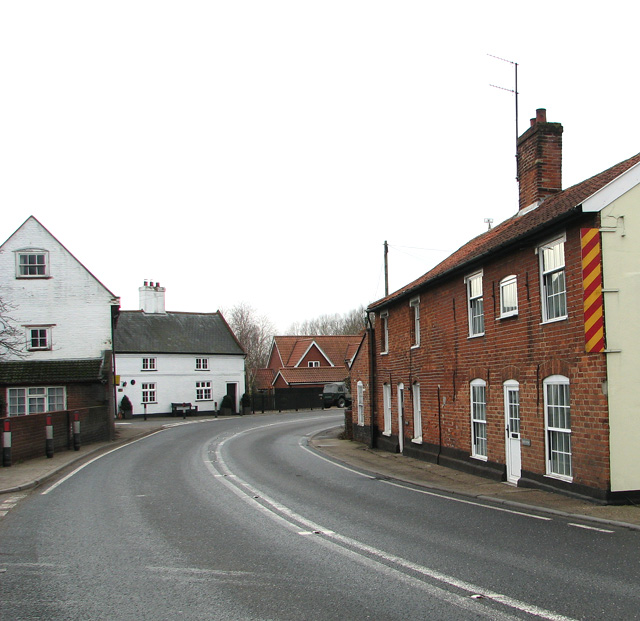 Approaching Farnham on the A12 road