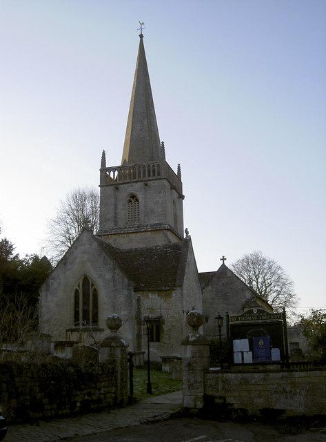St Thomas a Becket church, Box