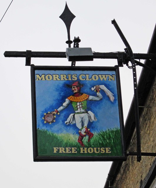 The Morris Clown (2) - sign, High Street, Bampton, Oxon