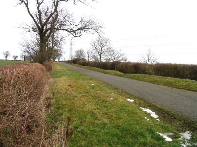 Gaddesby Lane towards Frisby