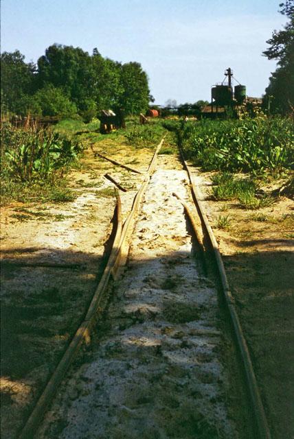 Sand quarry railway, 1975