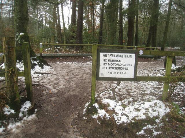 Entering Fleet Pond Nature Reserve