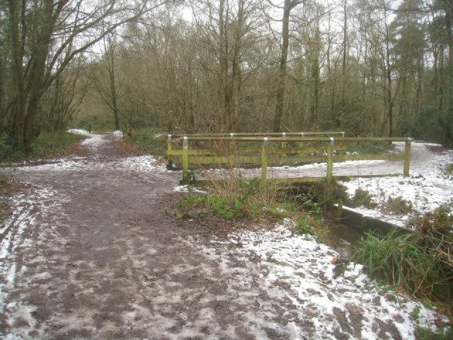 Footbridge across Gelvert Stream