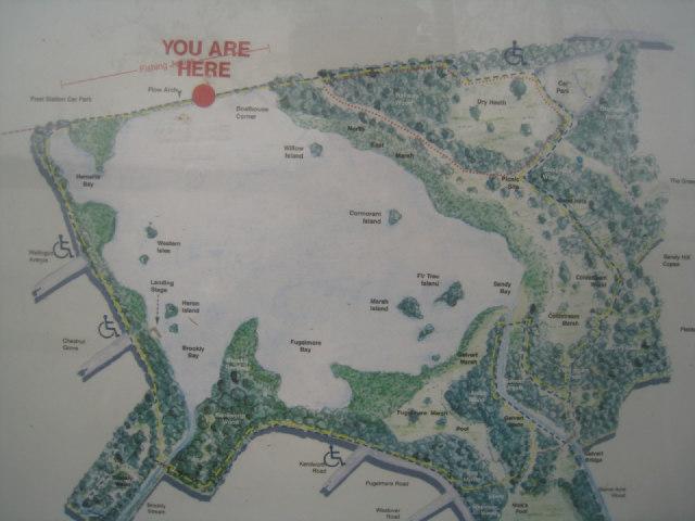 Map of Fleet Pond & paths