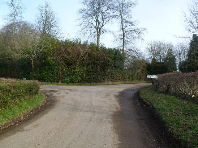 Moor Crichel, road junction